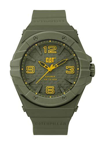 キャタピラー タフネス 腕時計 メンズ 頑丈 LE 111 28 838 【送料無料】CAT Spirit II Military Green Men Watch, 46.5 mm case, Military Green face, Polycarbonate case, Military Green Silicone Strキャタピラー タフネス 腕時計 メンズ 頑丈 LE 111 28 838