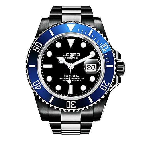 ロレオ 腕時計 メンズ LO0921r 【送料無料】LOREO Mens GMT Black Stainless Steel Sapphire Blue Rotating Bezel Black dial Automatic Watchロレオ 腕時計 メンズ LO0921r
