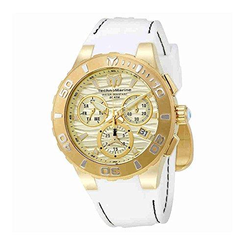 テクノマリーン 腕時計 メンズ TM-115078 Technomarine Men's Cruise Medusa Stainless Steel Swiss-Quartz Watch with Silicone Strap, White, 26 (Model: TM-115078)テクノマリーン 腕時計 メンズ TM-115078