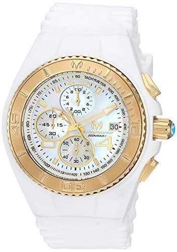 テクノマリーン 腕時計 メンズ TM-115354 Technomarine Men's Cruise Stainless Steel Quartz Watch with Silicone Strap, White, 28 (Model: TM-115354)テクノマリーン 腕時計 メンズ TM-115354