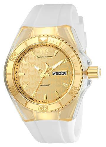 テクノマリーン 腕時計 メンズ 886678989966 【送料無料】Technomarine Women's Cruise Monogram Stainless Steel Quartz Watch with Silicone Strap, White, 26 (Model: TM-115022)テクノマリーン 腕時計 メンズ 886678989966
