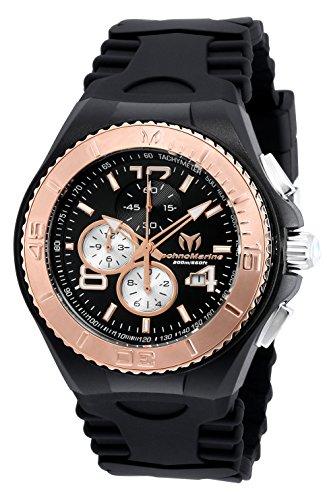 テクノマリーン 腕時計 メンズ TM-115150 Technomarine Men's Cruise Jellyfish Stainless Steel Quartz Watch with Silicone Strap, Black, 29 (Model: TM-115150)テクノマリーン 腕時計 メンズ TM-115150