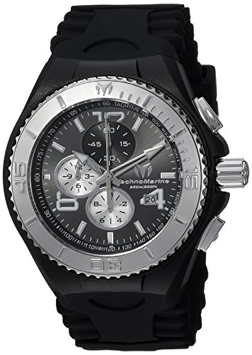 テクノマリーン 腕時計 メンズ TM-115148 【送料無料】Technomarine Men's Cruise Stainless Steel Quartz Watch with Silicone Strap, Black, 5.7 (Model: TM-115148)テクノマリーン 腕時計 メンズ TM-115148