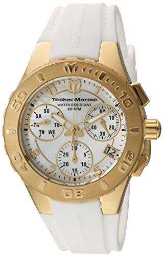 テクノマリーン 腕時計 メンズ TM-115088 【送料無料】Technomarine Women's Cruise Stainless Steel Quartz Watch with Silicone Strap, White, 24 (Model: TM-115088)テクノマリーン 腕時計 メンズ TM-115088