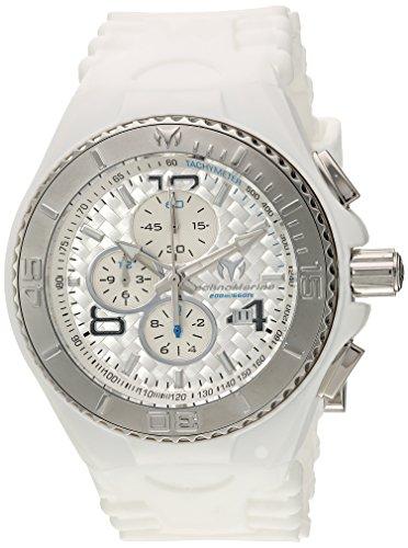 テクノマリーン 腕時計 メンズ TM-115108 Technomarine Men's Cruise Stainless Steel Quartz Watch with Silicone Strap, White, 29 (Model: TM-115108)テクノマリーン 腕時計 メンズ TM-115108