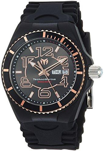 テクノマリーン 腕時計 メンズ TM-115147 Technomarine Men's 'Cruise' Quartz Stainless Steel and Silicone Casual Watch, Color:Black (Model: TM-115147)テクノマリーン 腕時計 メンズ TM-115147