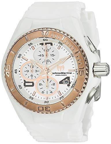 テクノマリーン 腕時計 レディース TM-115104 Technomarine Women's Cruise Stainless Steel Quartz Watch with Silicone Strap, White, 25.2 (Model: TM-115104)テクノマリーン 腕時計 レディース TM-115104