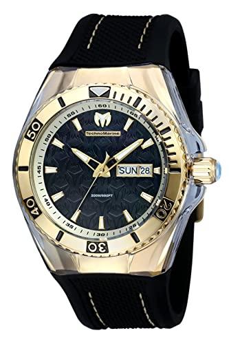 テクノマリーン 腕時計 メンズ TM-115213 Technomarine Men's TM-115213 Cruise Monogram Analog Display Swiss Quartz Black Watchテクノマリーン 腕時計 メンズ TM-115213