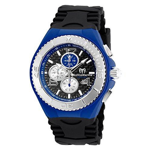 テクノマリーン 腕時計 メンズ TM-115297 【送料無料】TechnoMarine Men's TechnoMarine Black Silicone Band Steel Case Quartz Analog Watch 115297テクノマリーン 腕時計 メンズ TM-115297