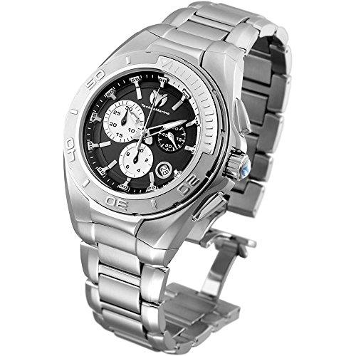 テクノマリーン 腕時計 メンズ TM-215037 Technomarine Men's Manta Swiss-Quartz Watch with Stainless-Steel Strap, Silver, 24.2 (Model: TM-215037テクノマリーン 腕時計 メンズ TM-215037