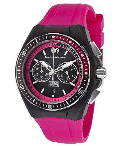 テクノマリーン 腕時計 レディース TECHNO-TM-110016 【送料無料】Technomarine Tm-110016 Women's Cruise Chrono Hot Pink Silicone Black Dial & Silicone Cover Watchテクノマリーン 腕時計 レディース TECHNO-TM-110016