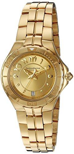 """テクノマリーン 腕時計 レディース TM-715010 【送料無料】Technomarine Women""""s TM-715010 Sea Pearl Analog Display Swiss Quartz Gold Watchテクノマリーン 腕時計 レディース TM-715010"""