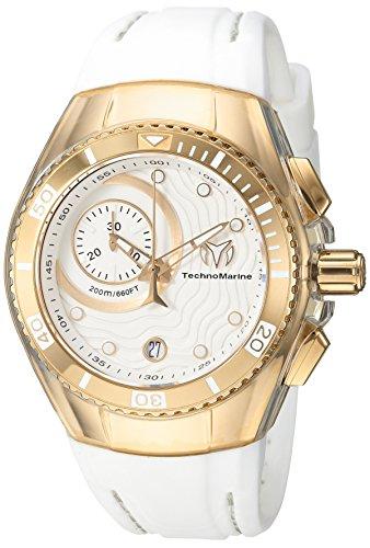 テクノマリーン 腕時計 レディース TM-115379 【送料無料】Technomarine Women's Cruise Stainless Steel Quartz Watch with Silicone Strap, White, 20 (Model: TM-115379)テクノマリーン 腕時計 レディース TM-115379