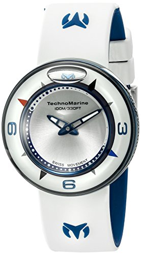 テクノマリーン 腕時計 レディース TM-813001 【送料無料】Technomarine Unisex TM-813001 Aqua Sphere Analog Display Swiss Quartz White Watchテクノマリーン 腕時計 レディース TM-813001
