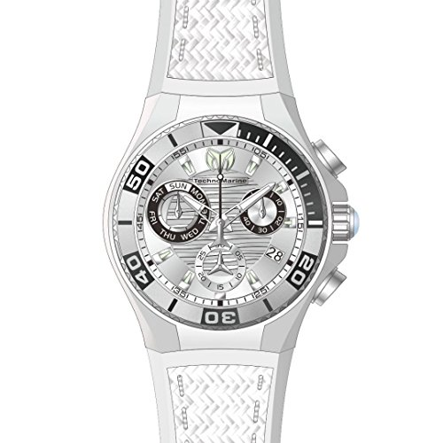 テクノマリーン 腕時計 メンズ TM-115180 Technomarine Men's Cruise Stainless Steel Quartz Watch with Silicone Strap, White, 29 (Model: TM-115180)テクノマリーン 腕時計 メンズ TM-115180