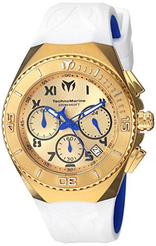 テクノマリーン 腕時計 メンズ TM-215079 Technomarine Men's Manta Quartz Watch with Silicone Strap, White, 19 (Model: TM-215079)テクノマリーン 腕時計 メンズ TM-215079