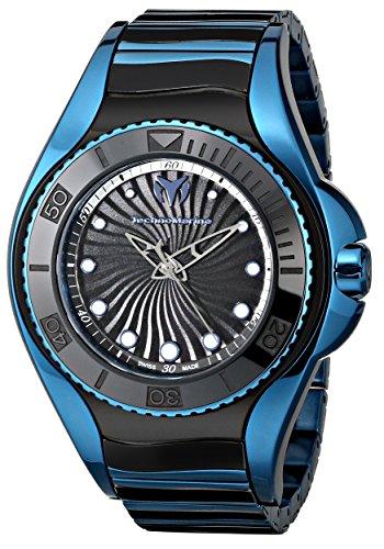 テクノマリーン 腕時計 レディース 214005 TechnoMarine Women's 214005 Blue Manta Analog Display Swiss Quartz Black Watchテクノマリーン 腕時計 レディース 214005