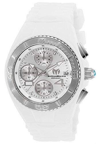 テクノマリーン 腕時計 レディース TM-115357 Technomarine Women's Cruise Stainless Steel Quartz Watch with Silicone Strap, White, 25 (Model: TM-115357テクノマリーン 腕時計 レディース TM-115357