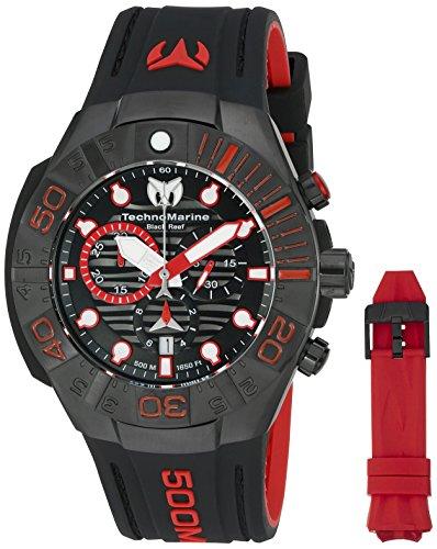 テクノマリーン 腕時計 メンズ TM-515018 Technomarine Men's 'Black Reef' Swiss Quartz Stainless Steel Casual Watch (Model: TM-515018)テクノマリーン 腕時計 メンズ TM-515018