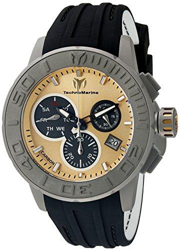 テクノマリーン 腕時計 メンズ TM-515005 【送料無料】Technomarine Men's TM-515005 Titanium Reef Analog Display Swiss Quartz Black Watchテクノマリーン 腕時計 メンズ TM-515005