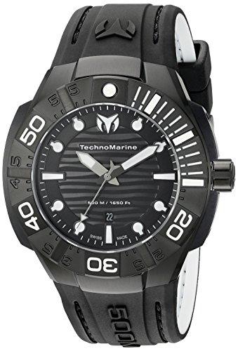 <title>無料ラッピングでプレゼントや贈り物にも 逆輸入並行輸入送料込 腕時計 テクノマリーン メンズ TM-513003 送料無料 Technomarine Men's Black Reef Analog 定価 Display Swiss Quartz Watch腕時計</title>