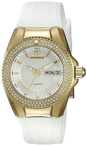 テクノマリーン 腕時計 レディース TM-115237 Technomarine Women's Cruise Quartz Watch with Silicone Strap, White, 24 (Model: TM-115237)テクノマリーン 腕時計 レディース TM-115237