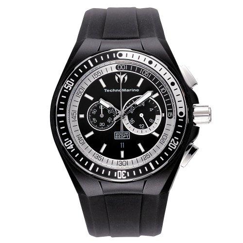 テクノマリーン 腕時計 メンズ 110018 【送料無料】TechnoMarine Men's 110018 Cruise Sport Chronograph Black & White Dial Watchテクノマリーン 腕時計 メンズ 110018