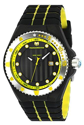 テクノマリーン 腕時計 メンズ TechnoMarine Cruise Locker Black Dial Mens Watch 115218テクノマリーン 腕時計 メンズ