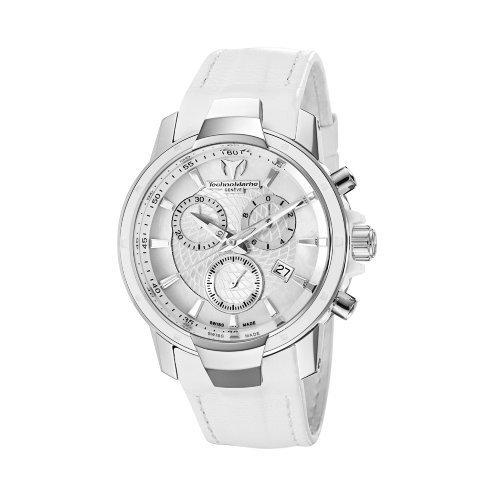 腕時計 テクノマリーン レディース 609009 【送料無料】TechnoMarine Women's 609009 UF6 Chronograph White Leather Watch腕時計 テクノマリーン レディース 609009