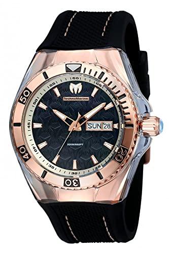 テクノマリーン 腕時計 メンズ TM-115214 Technomarine Men's TM-115214 Cruise Monogram Analog Display Swiss Quartz Black Watchテクノマリーン 腕時計 メンズ TM-115214