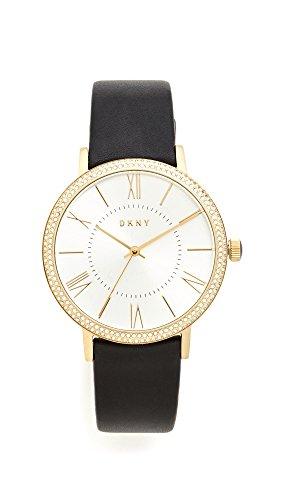 ダナ・キャラン・ニューヨーク 腕時計 レディース NY2544 DKNY Women's Willoughby Stainless Steel Analog-Quartz Watch with Leather-Calfskin Strap, Black, 18 (Model: NY2544ダナ・キャラン・ニューヨーク 腕時計 レディース NY2544