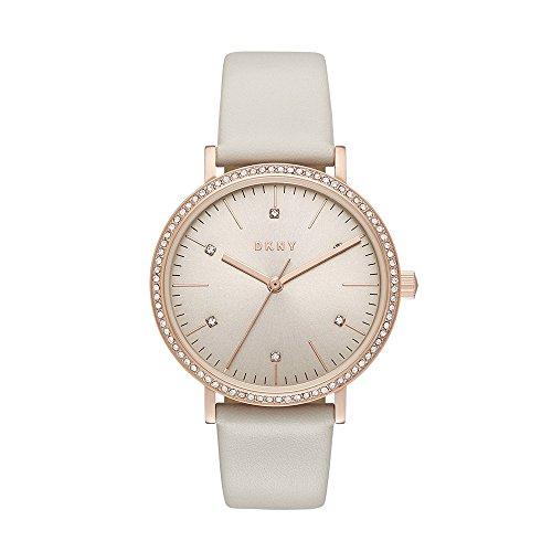 ダナ・キャラン・ニューヨーク 腕時計 レディース NY2609 DKNY Women's 'Minetta' Quartz Stainless Steel and Leather Casual Watch, Color:Grey (Model: NY2609)ダナ・キャラン・ニューヨーク 腕時計 レディース NY2609