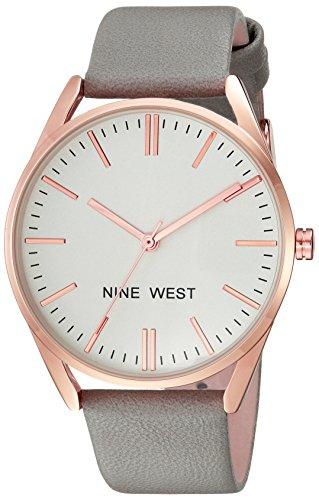 ナインウェスト 腕時計 レディース NW/1994RGGY 【送料無料】Nine West Women's NW/1994RGGY Rose Gold-Tone and Grey Strap Watchナインウェスト 腕時計 レディース NW/1994RGGY