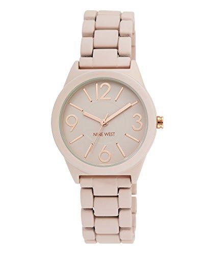 ナインウェスト 腕時計 レディース NW/1812PKRG 【送料無料】Nine West Women's NW/1812PKRG Matte Blush Pink Rubberized Bracelet Watchナインウェスト 腕時計 レディース NW/1812PKRG