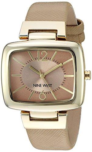 ナインウェスト 腕時計 レディース NW/1856NTNT 【送料無料】Nine West Women's NW/1856NTNT Gold-Tone and Beige Strap Quartz Watchナインウェスト 腕時計 レディース NW/1856NTNT
