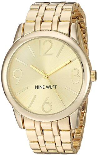 ナインウェスト 腕時計 レディース NW/1578CHGB 【送料無料】Nine West Women's NW/1578CHGB Champagne Dial Gold-Tone Bracelet Watchナインウェスト 腕時計 レディース NW/1578CHGB