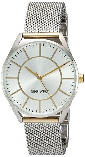 ナインウェスト 腕時計 レディース NW/1923SVTT 【送料無料】Nine West Women's NW/1923SVTT Two-Tone Mesh Bracelet Watchナインウェスト 腕時計 レディース NW/1923SVTT