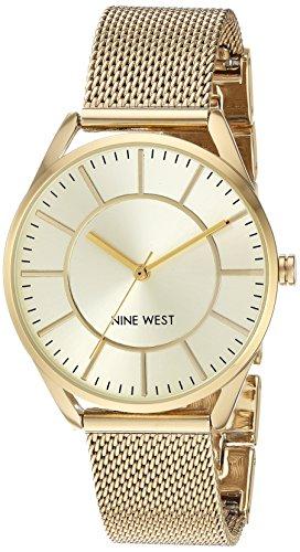 ナインウェスト 腕時計 レディース NW/1922CHGB 【送料無料】Nine West Women's NW/1922CHGB Gold-Tone Mesh Bracelet Watchナインウェスト 腕時計 レディース NW/1922CHGB