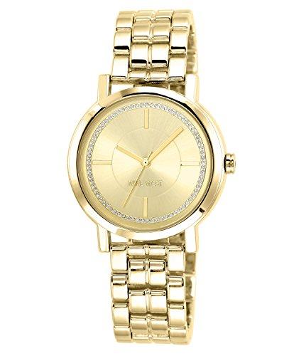 ナインウェスト 腕時計 レディース NW/1642CHGB 【送料無料】Nine West Women's Gold-Tone Bracelet Watchナインウェスト 腕時計 レディース NW/1642CHGB