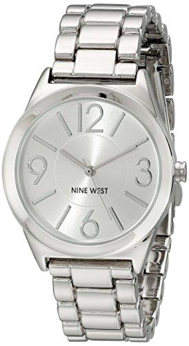 ナインウェスト 腕時計 レディース NW/1663SVSB 【送料無料】Nine West Women's NW/1663SVSB Silver-Tone Bracelet Watchナインウェスト 腕時計 レディース NW/1663SVSB