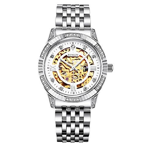 ビンルン 腕時計 メンズ BL0018G-SSW-G 【送料無料】BINLUN Automatic Wrist Watches for Men Luxury Men's Dress Watch Silverビンルン 腕時計 メンズ BL0018G-SSW-G