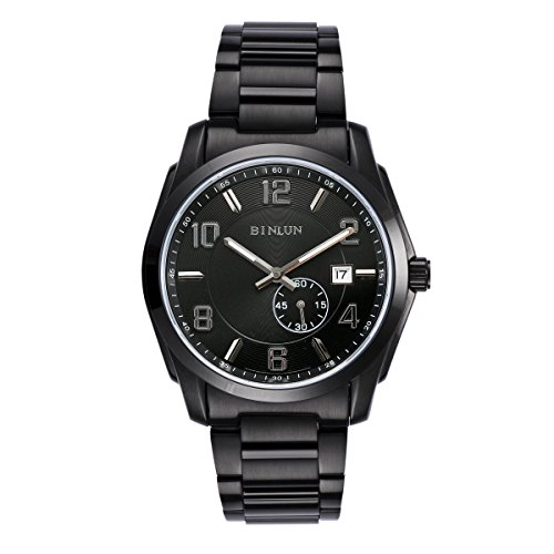 ビンルン 腕時計 メンズ BL0020BW 【送料無料】BINLUN Automatic Watches for Men All Black Military Officer Watch with Waterproof Luminous Calenderビンルン 腕時計 メンズ BL0020BW