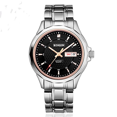 ビンルン 腕時計 メンズ BL0026GB 【送料無料】BINLUN Men's Watch Japanese Quartz Stainless Steel Waterproof Watches Reloj with Day Dateビンルン 腕時計 メンズ BL0026GB