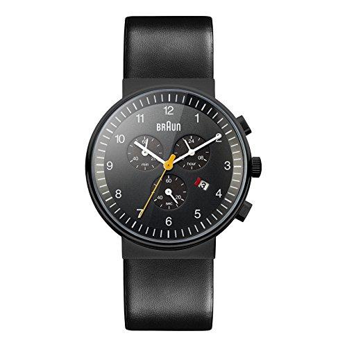 ブラウン 腕時計 メンズ BN0035BKBKG 【送料無料】Braun Men's BN0035BKBKG Classic Chronograph Analog Display Quartz Black Watchブラウン 腕時計 メンズ BN0035BKBKG