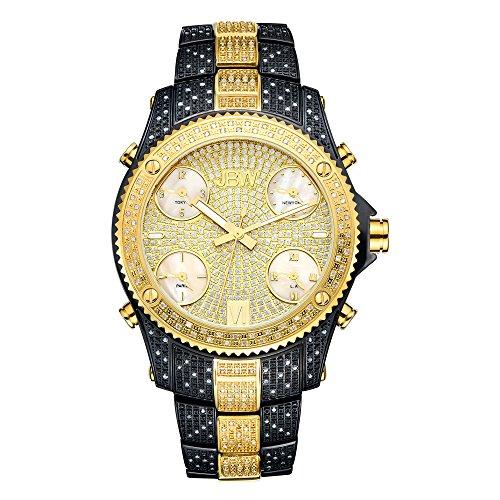 高級腕時計 メンズ JB-6213-D 【送料無料】JBW Luxury Men's Jet Setter 2.34 Carat Diamond Wrist Watch with Stainless Steel Link Bracelet高級腕時計 メンズ JB-6213-D