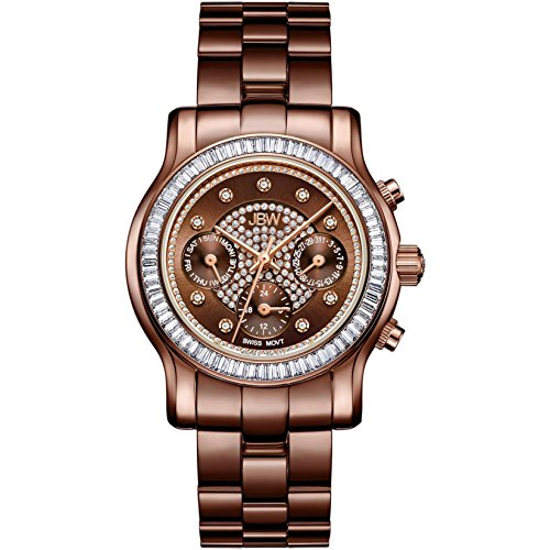 高級腕時計 レディース J6330A 【送料無料】JBW Luxury Women's Laurel Diamond & Crystal Wrist Watch with Stainless Steel Link Bracelet高級腕時計 レディース J6330A