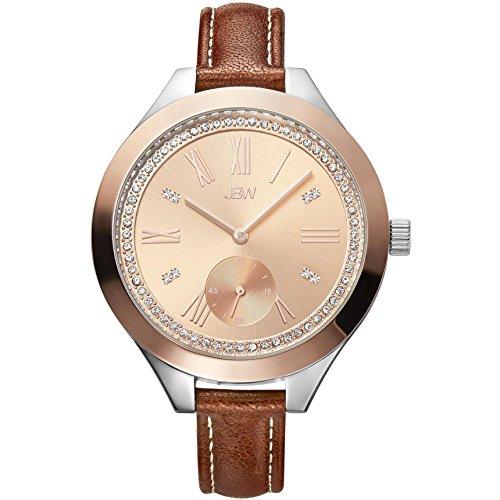 高級腕時計 レディース J6309D 【送料無料】JBW Women's ARIA Diamond 40MM Brown Leather Band Quartz Analog Watch J6309D高級腕時計 レディース J6309D