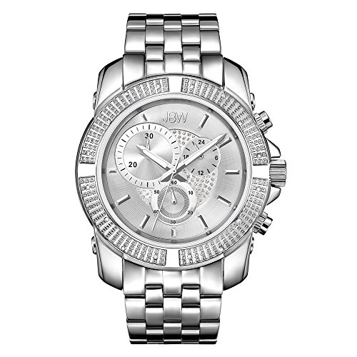 高級腕時計 メンズ J6331B JBW Luxury Men's Warren 0.16 ctw Diamond Wrist Watch with Stainless Steel Link Bracelet高級腕時計 メンズ J6331B
