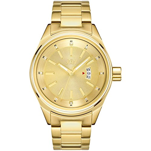 "高級腕時計 メンズ J6287L 【送料無料】JBW Men""s Rook J6287L Genuine Diamond Analog Display 18K Gold-Plated Stainless Steel Watch高級腕時計 メンズ J6287L"