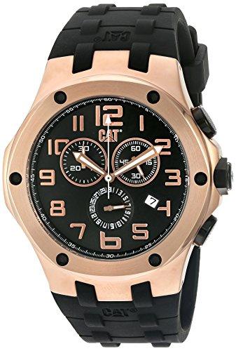 腕時計 キャタピラー メンズ タフネス 頑丈 A719321919 【送料無料】CAT WATCHES Men's 'Navigo Chrono' Quartz Stainless Steel and Silicone Watch, Color:Black (Model: A719321919)腕時計 キャタピラー メンズ タフネス 頑丈 A719321919